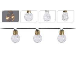 Set de ghirlande LED 10 lampi aurii, pentru iluminarea casei, pe baterii
