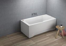 Акриловая прямоугольная ванна STANDARD(00060) 120x70x54.5cm(плюс крепления)