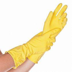 Хозяйственные перчатки, BETTINA, ЛАТЕКСНЫЕ, ЖЕЛТЫЕ, 30СМ, размер XXL