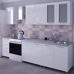 Bucătărie Bafimob Lena (High Gloss) 1.6m White