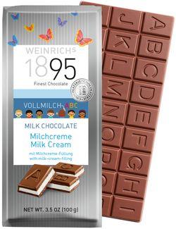 Ciocolată ABC cu lapte și cremă Weinrichs 1895 100g