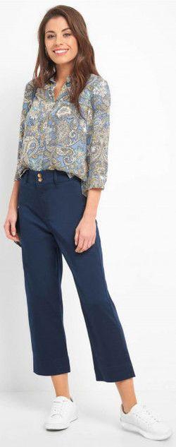 Pantaloni ORSAY Albastru inchis 327065 orsay
