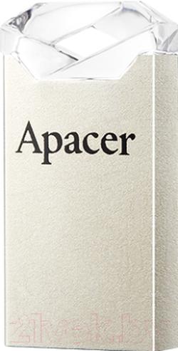USB Flash Drive Apacer AH111 16Gb Silver-Crystal (AP16GAH111CR-1)