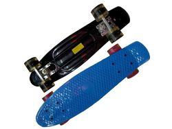 Skateboard 55X14cm, max 75kg, iluminarea rotilor plastic