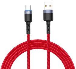 купить Кабель для моб. устройства Tellur TLL155334 Cable USB - Type-C, cu LED, 3A, 1.2m, Red в Кишинёве