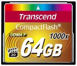 Сard de memorie Transcend CompactFlash 64Gb 1000X (TS64GCF1000)