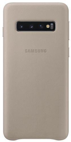 cumpără Husă pentru smartphone Samsung EF-VG973 Leather Cover S10 Gray în Chișinău