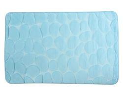 Covoras pentru baie 50X80cm Pebble albastru, microfibra