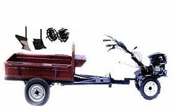 Set motocultivator TECHNOWORKER HB 700RS PRO+Remorca RK500 + plug simplu + plug reglabil + roti metalice 4*8