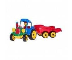 Трактор с прицепом, микс код.40453