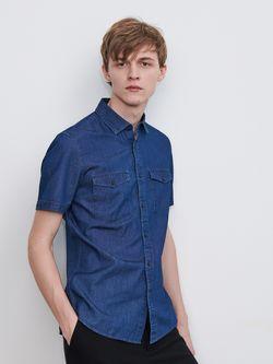 Рубашка RESERVED Темно синий yh308