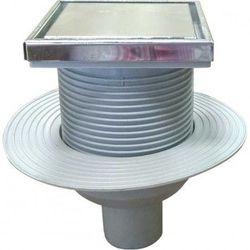 Комплект: трап из нержавеющей стали PREMIUM + вертикальный выходной разъем 50 мм (0121293 + 0121296)