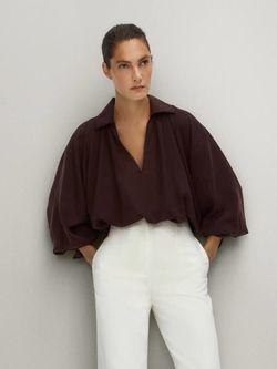 Блуза Massimo Dutti Бордо 5161/536/610