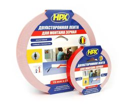 HPX DS1905 MIRROR MOUNTING Double sided foam tape 1.1 mm (19mm * 25m)