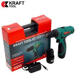 Mașină de găurit/inșurubat cu acumulator 12V KT12VLi-Ion KraftTool