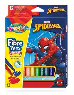 Set de carioci 12 culori - Colorino Disney SpiderMan