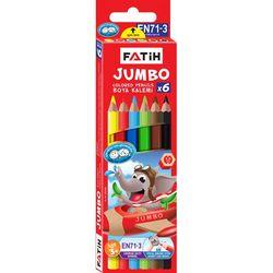 Карандаши цветные Fatih Jumbo 6 цветов