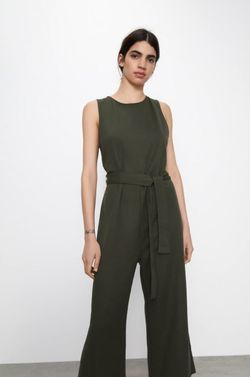Pantaloni ZARA Verde inchis 7901/403/505.