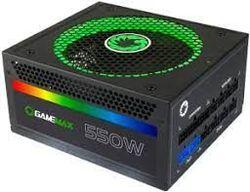 Блок питания ATX 550W GAMEMAX RGB-550, 80+ Gold, полностью модульный кабель, активный PFC, 140-мм вентилятор RGB
