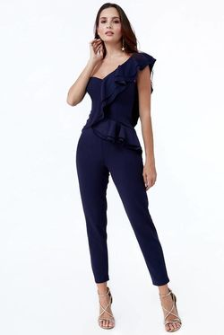 Pantaloni City Goddess Albastru TR261-Navy city goddess