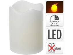 Свеча LED 9X7сm, таймер, белая