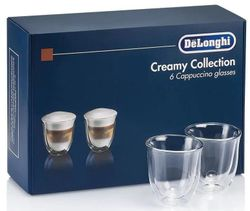 купить Стакан DeLonghi DLSC301 SET 6 Glasses Cappuccino 190ml в Кишинёве