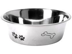 Миска для собак 2.5l D24cm, H8cm, нержавеющая сталь