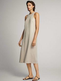 Платье Massimo Dutti Беж 6630/749/834