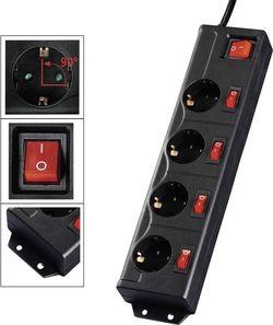 купить Фильтр электрический Hama 137257 4+1, black в Кишинёве