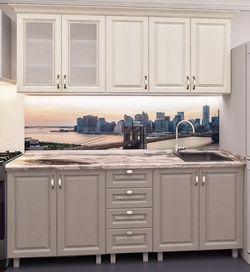Кухонный гарнитур Bafimob Lena MDF 1.8m Beige/Cappuccino