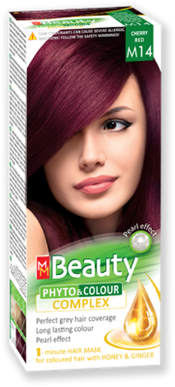 Vopsea p/u păr, SOLVEX MM Beauty, 125 ml., M14 - Roșu cireașă