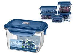 Контейнер герметичный Phibo Brilliant 0.7l, 14X11X9cm, синий