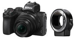 cumpără Aparat foto mirrorless Nikon Z50 + Nikkor Z DX 16-50mm VR + FTZ Adapter Kit în Chișinău