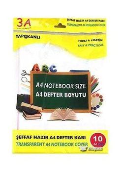 Обложкa для книг A4 прозрачная 10 штук 3A