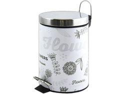 Cos pentru gunoi cu pedala 3l Flower, inox