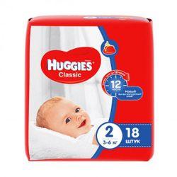 Подгузники Huggies Classic 2 (3-6 кг), 18 шт.
