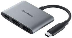 купить Аксессуар для моб. устройства Samsung EE-P3200 Note10 Multiport Type C USB A, HDMI Gray в Кишинёве