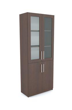 Office Line №2 Шкаф закрытого типа со стеклом