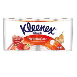 Туалетная бумага Kleenex Strawberry, 8 рулонов, трехслойная