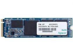 .M.2 NVMe SSD 256 ГБ Apacer AS2280P4 [PCIe 3.0 x4, R / W: 1800/1100 МБ / с, 190/180 КБ операций ввода-вывода в секунду, 3D TLC]
