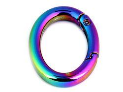 Inel-carabină oval / multicolor