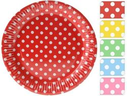 Набор тарелок бумажных 10шт, D18cm, 5цветов