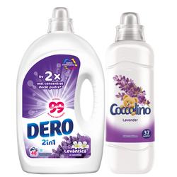 Dero lichid 2in1 Levănţică şi Iasomie, 2L + Coccolino Lavender  925 ml Gratis