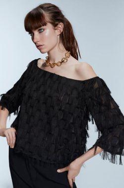 Блуза ZARA Чёрный 3564/188/800