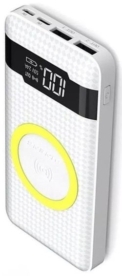 купить Аккумулятор внешний USB (Powerbank) Pineng PN-886 White, 10000 mAh в Кишинёве