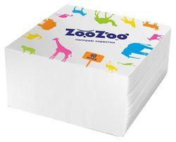 Салфетки столовые ZooZoo 24*23 1 слой 60 штук