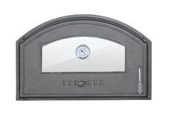 Дверца чугунная со стеклом левая с термометром DCHD3T