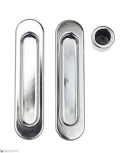 Комплект ручек для раздвижных дверей B019270030 полированный хром