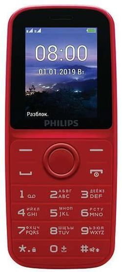 купить Телефон мобильный Philips E109 Red в Кишинёве