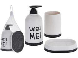 Набор для ванной 3ед(диспенсер, стакан,мыльниц) пластик, бел